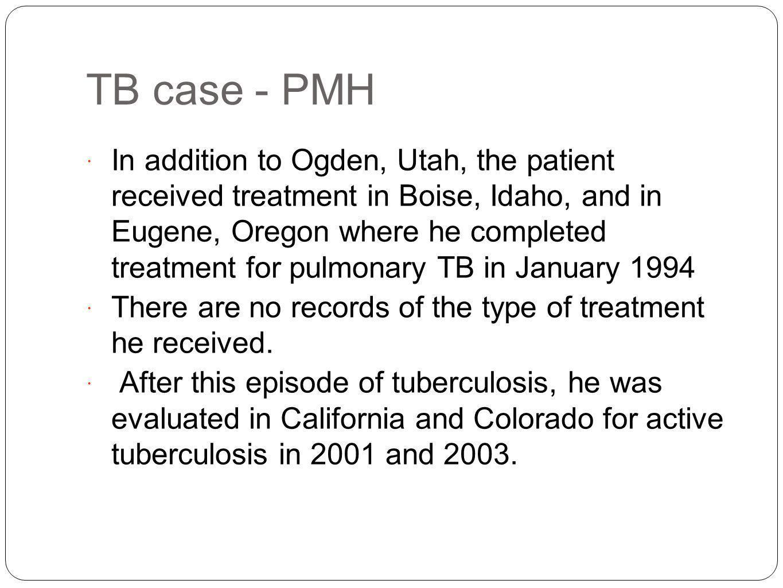 TB case - PMH