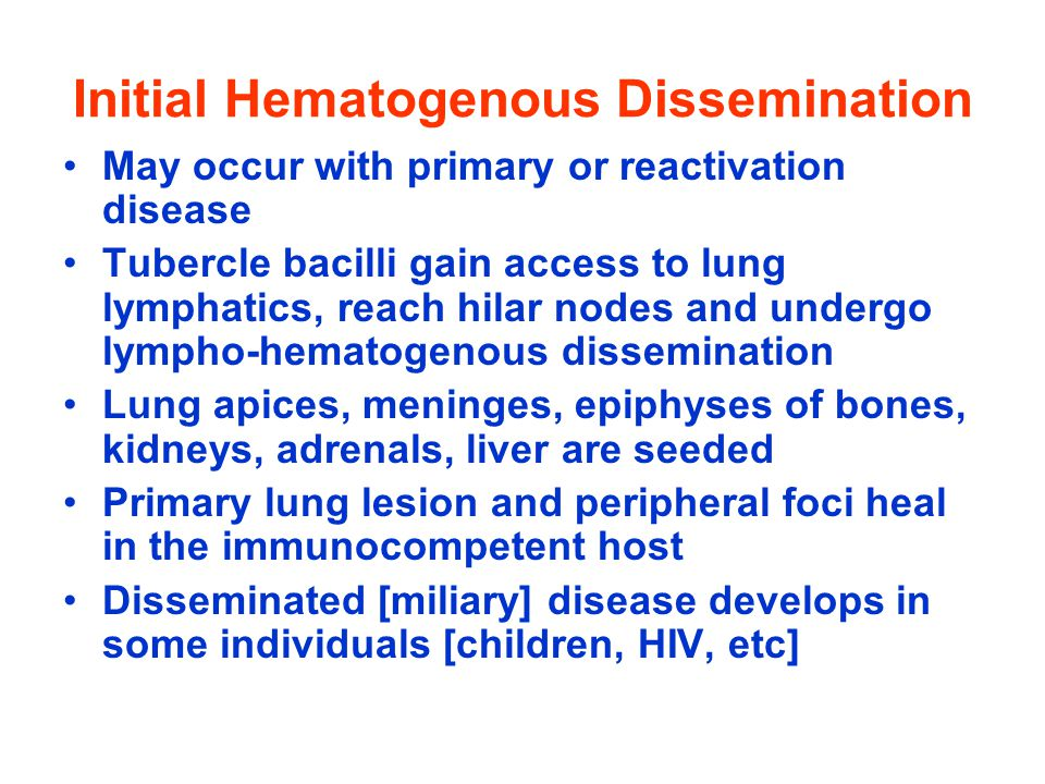 Initial Hematogenous Dissemination