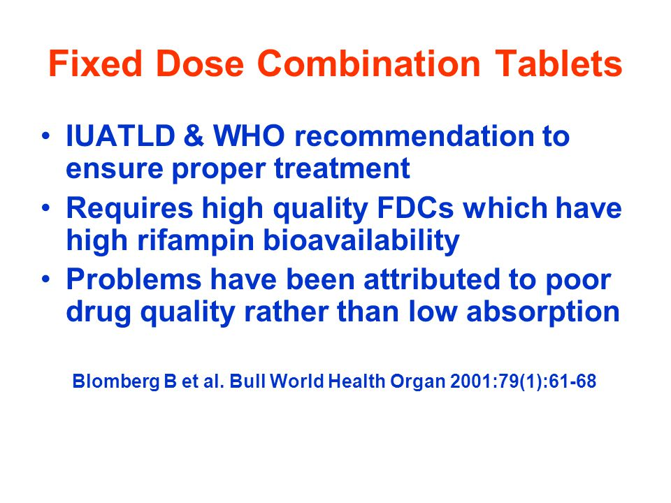 Fixed Dose Combination Tablets