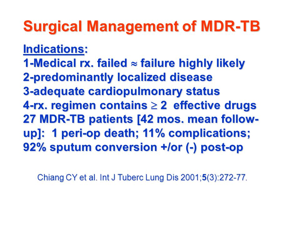 Surgical Management of MDR-TB
