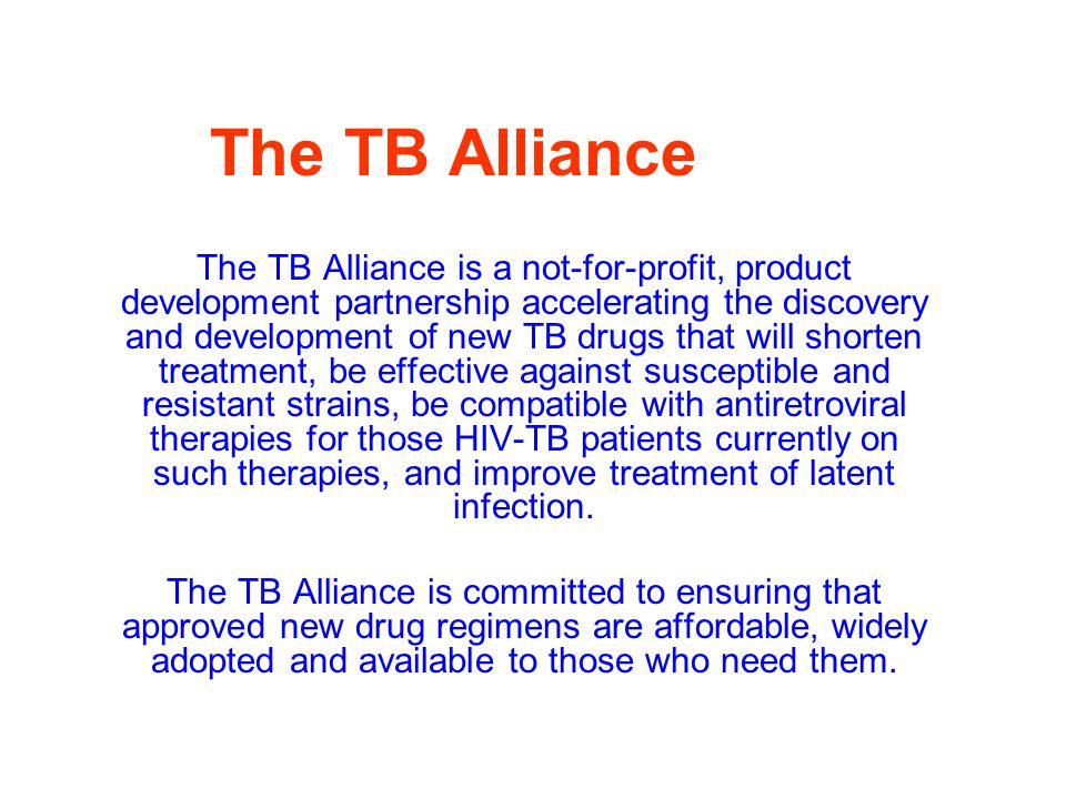 The TB Alliance