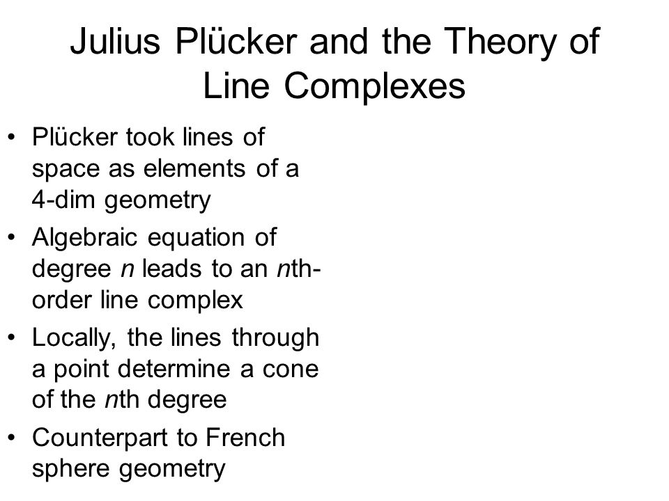 Julius Plücker and the Theory of Line Complexes