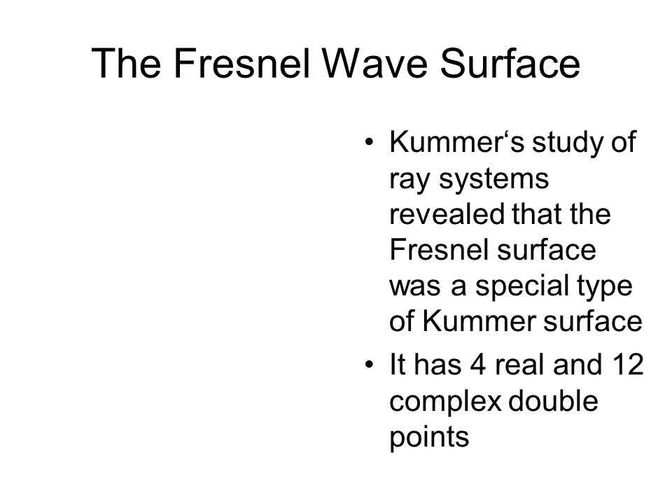 The Fresnel Wave Surface