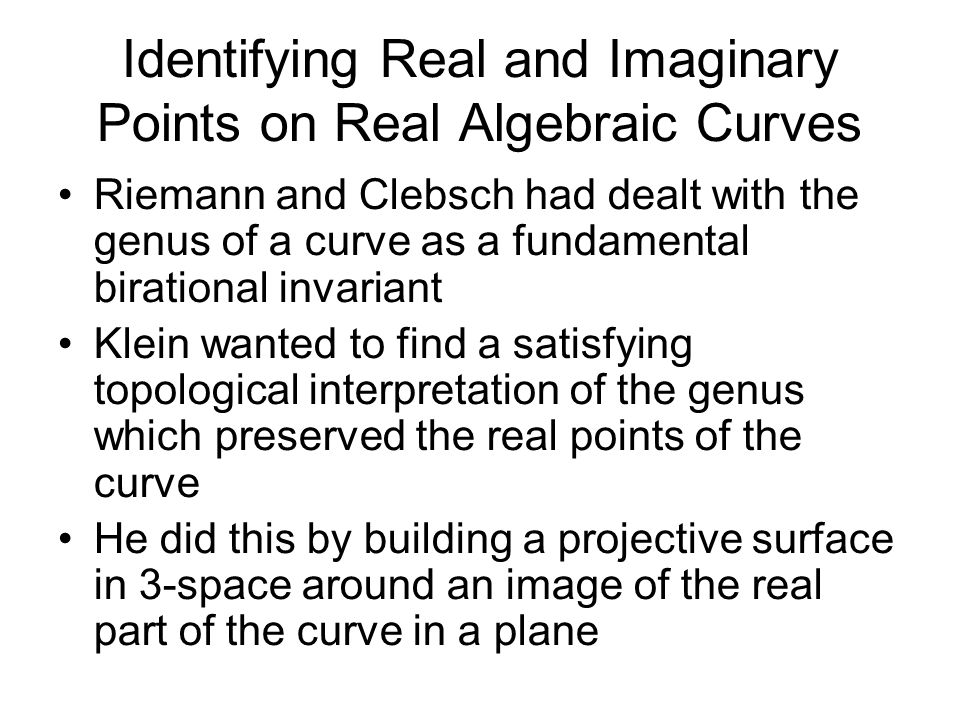 Identifying Real and Imaginary Points on Real Algebraic Curves