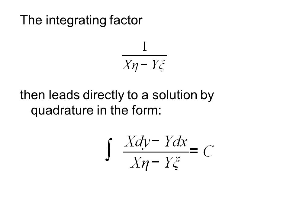 The integrating factor