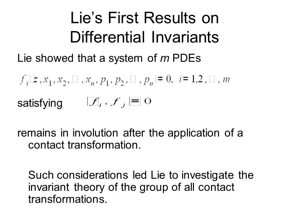 Lie's First Results on Differential Invariants