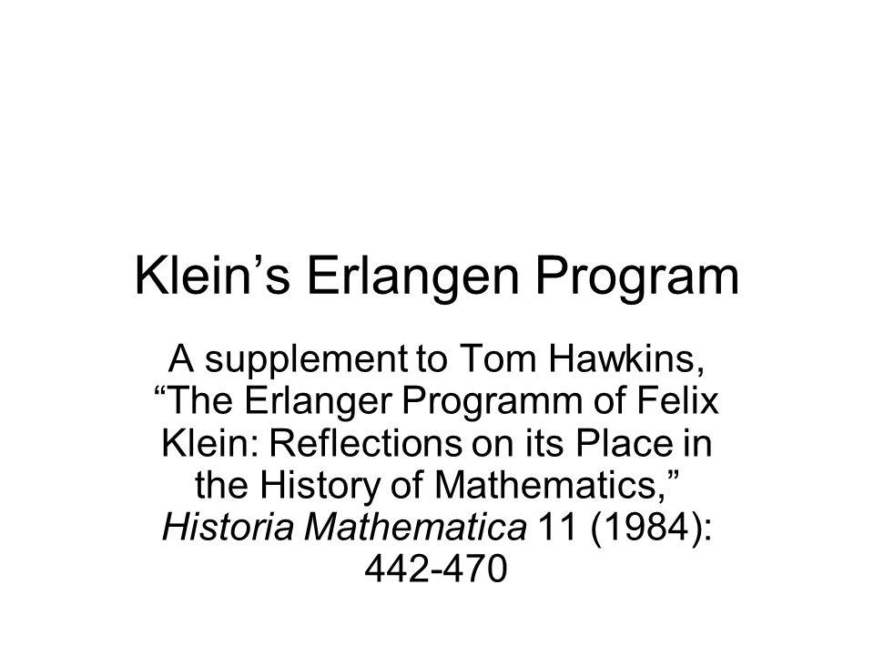 Klein's Erlangen Program
