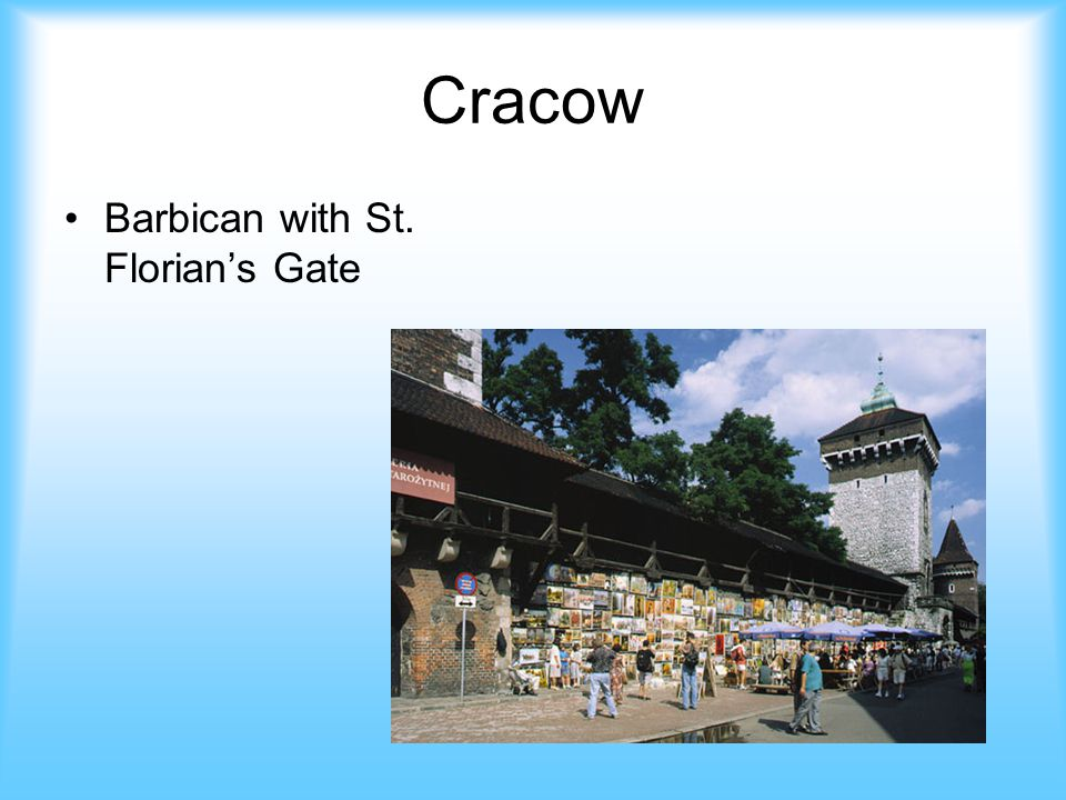 Cracow Barbican with St. Florian's Gate