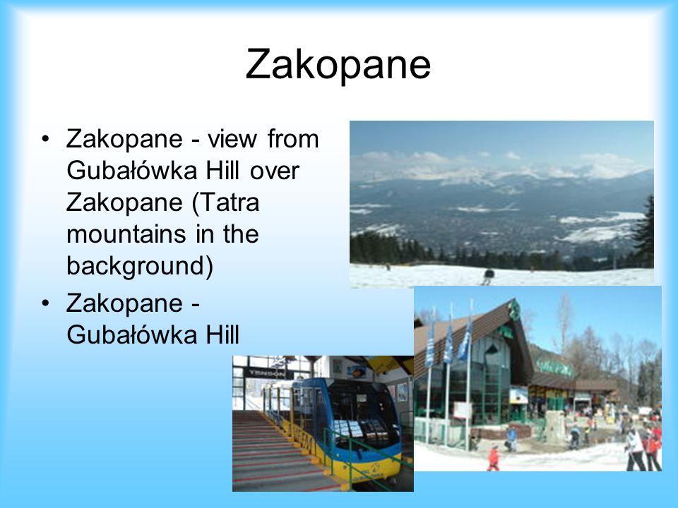 Zakopane Zakopane - view from Gubałówka Hill over Zakopane (Tatra mountains in the background) Zakopane - Gubałówka Hill.