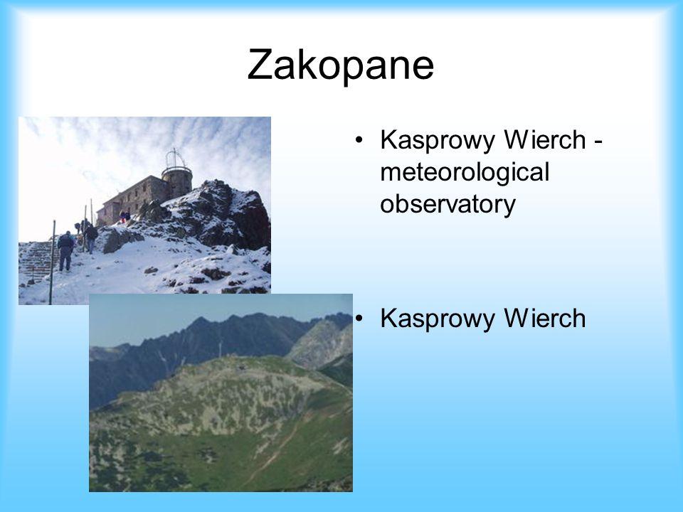 Zakopane Kasprowy Wierch - meteorological observatory Kasprowy Wierch