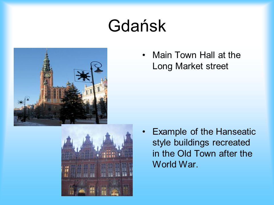 Gdańsk Main Town Hall at the Long Market street