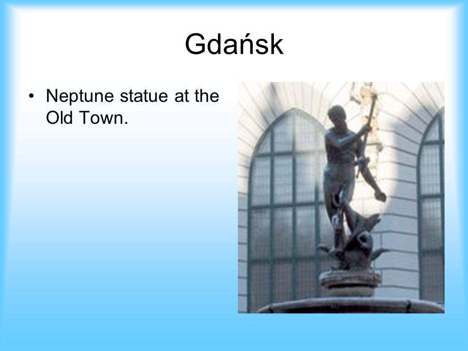 Gdańsk Neptune statue at the Old Town.