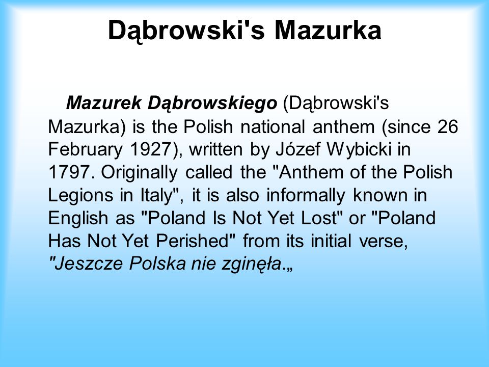 Dąbrowski s Mazurka