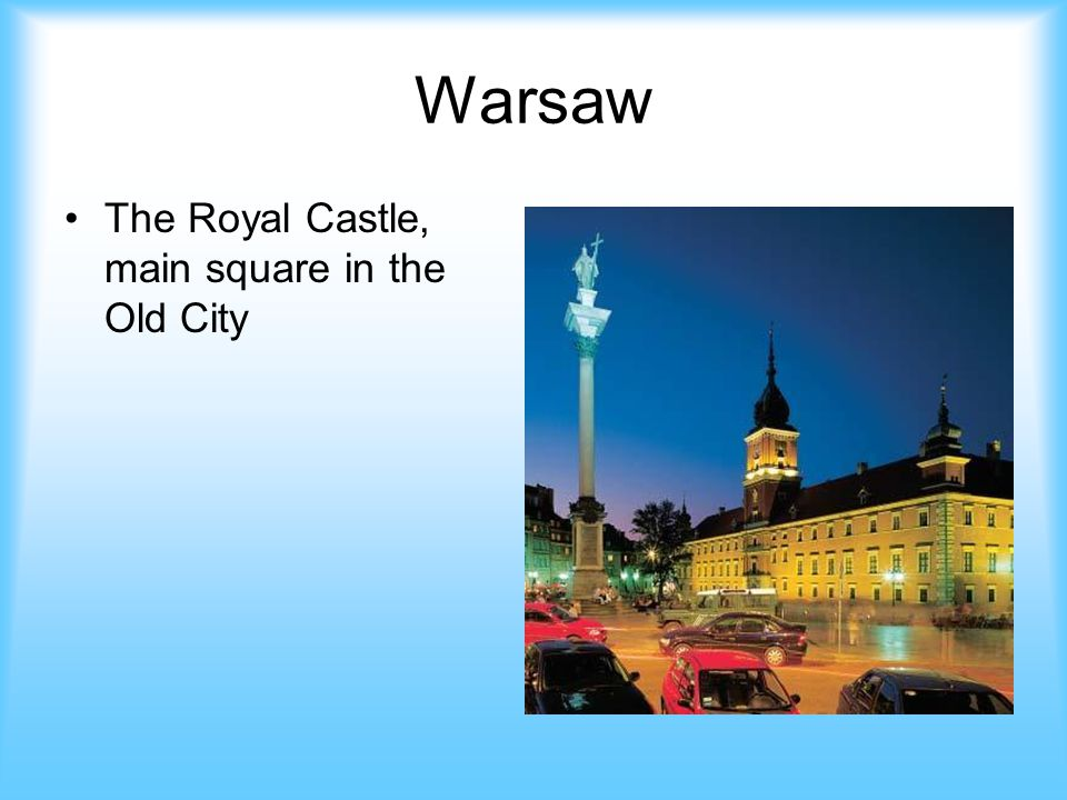 Warsaw The Royal Castle, main square in the Old City