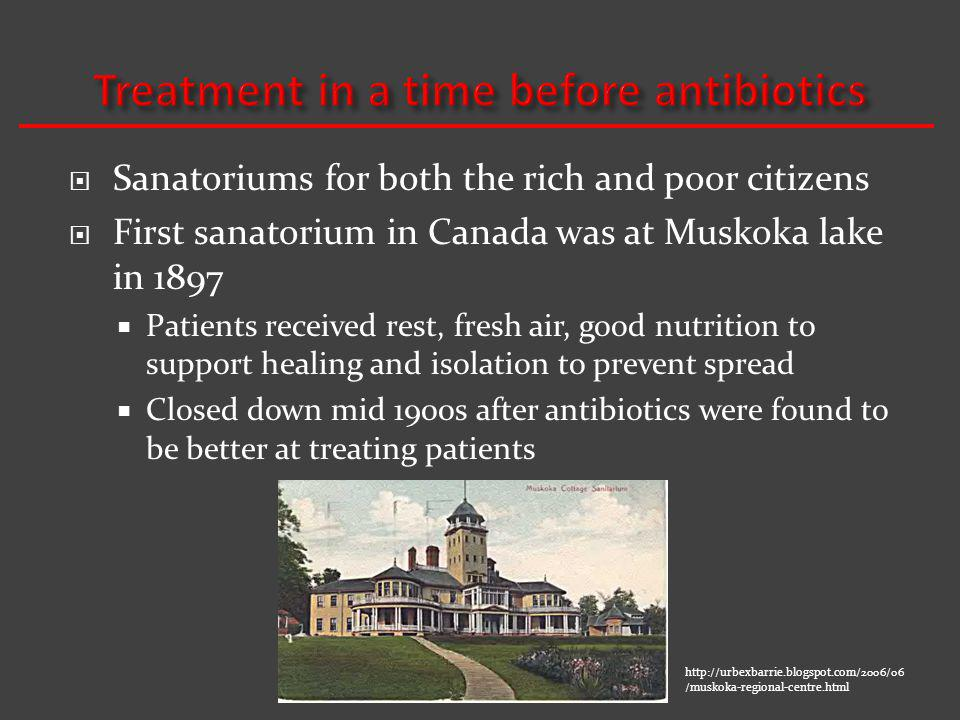 Treatment in a time before antibiotics