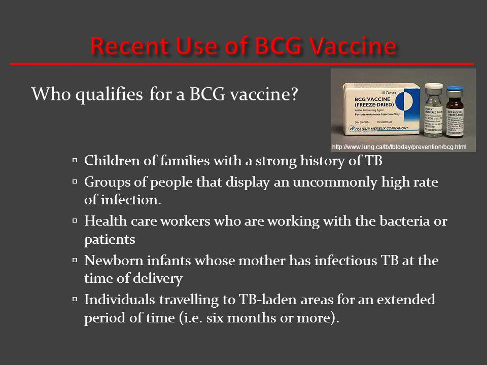 Recent Use of BCG Vaccine