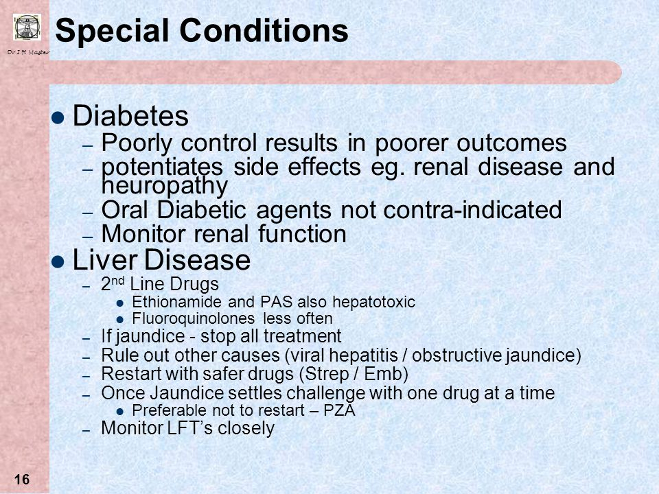 Special Conditions Diabetes Liver Disease