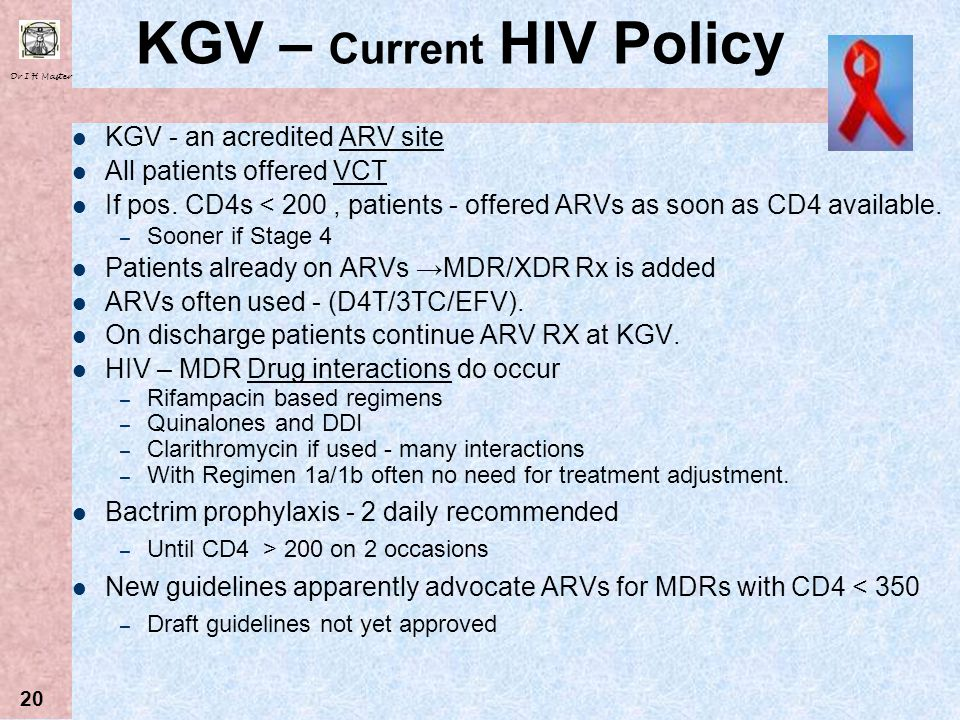 KGV – Current HIV Policy