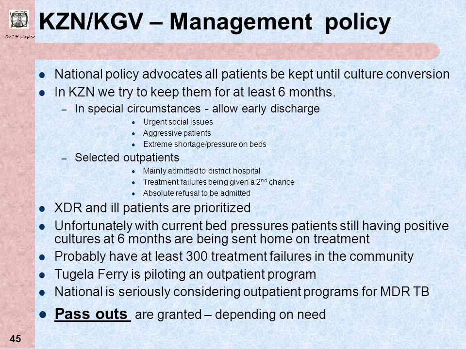 KZN/KGV – Management policy