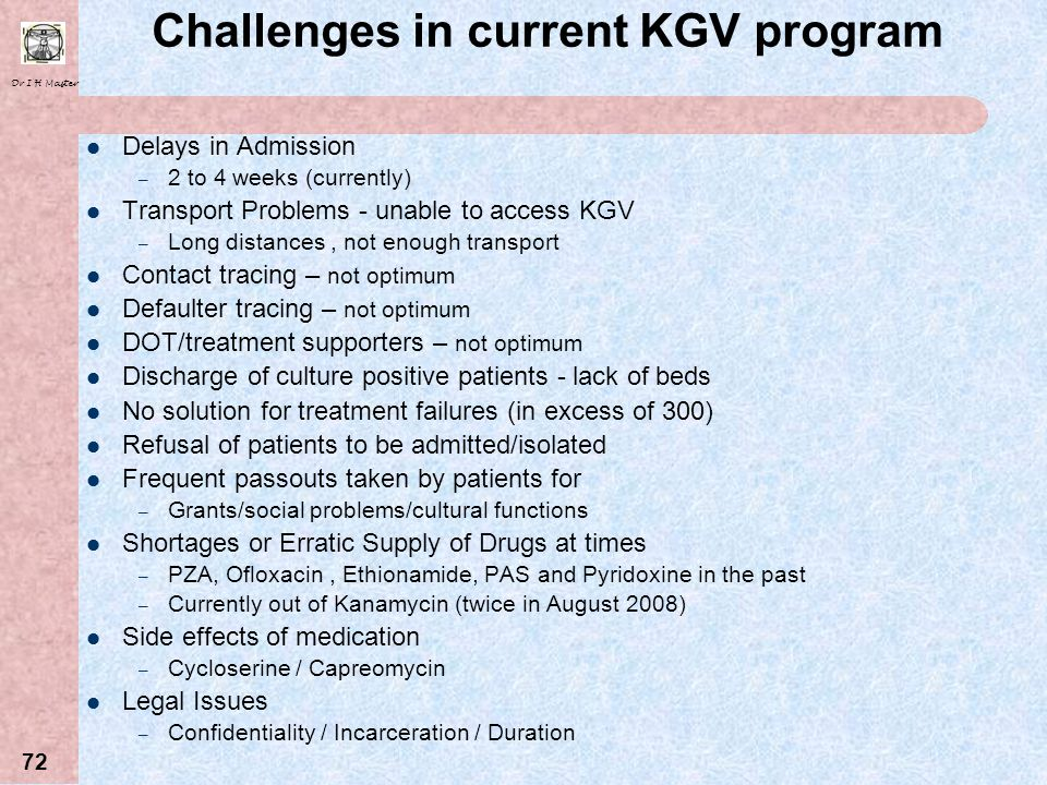Challenges in current KGV program