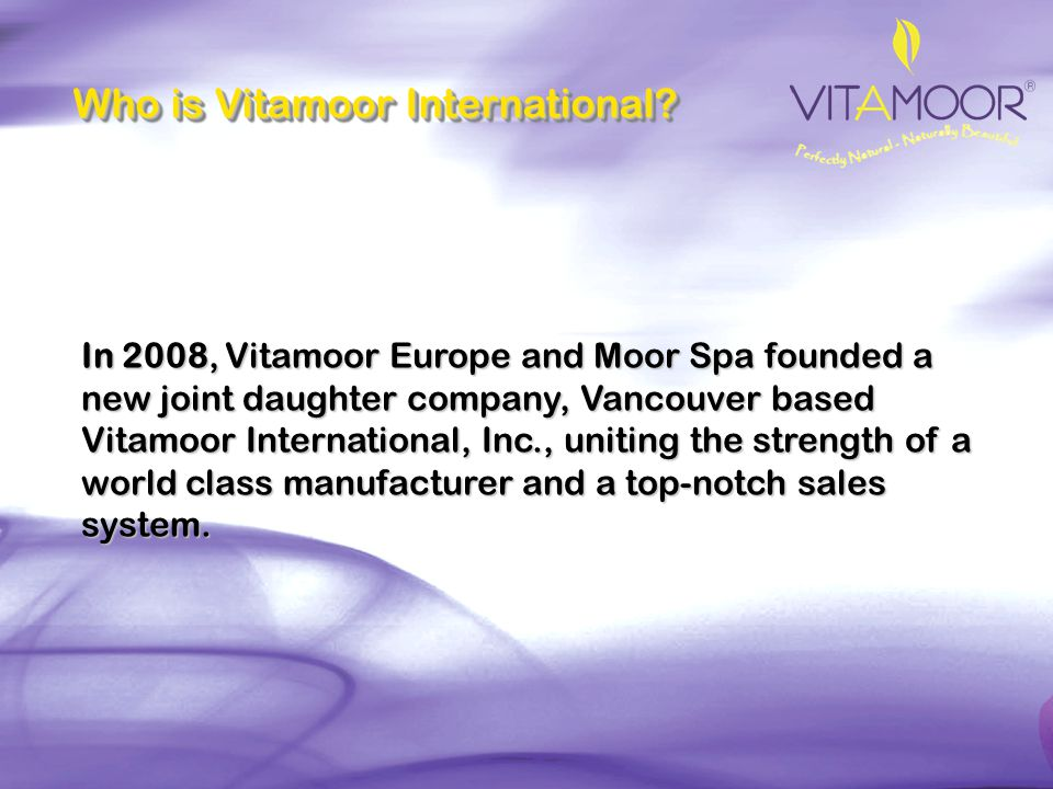 Who is Vitamoor International