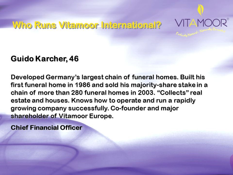 Who Runs Vitamoor International