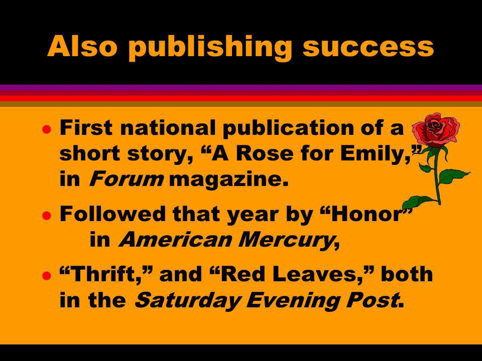 Also publishing success