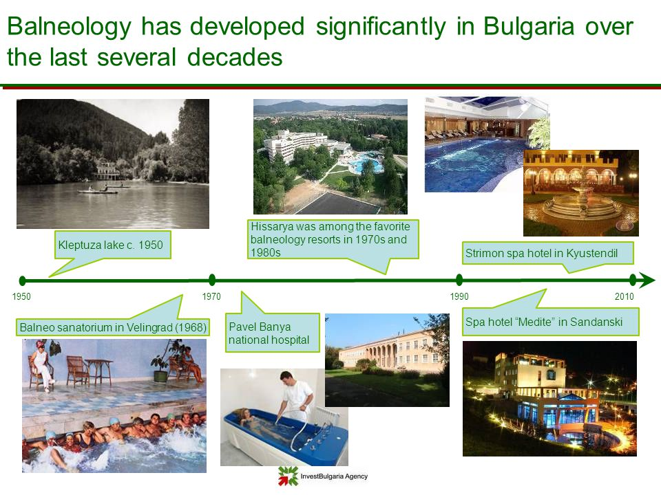 Balneology has developed significantly in Bulgaria over the last several decades