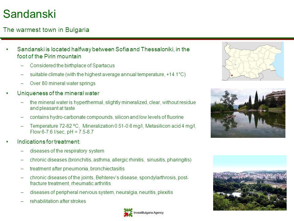 Sandanski The warmest town in Bulgaria