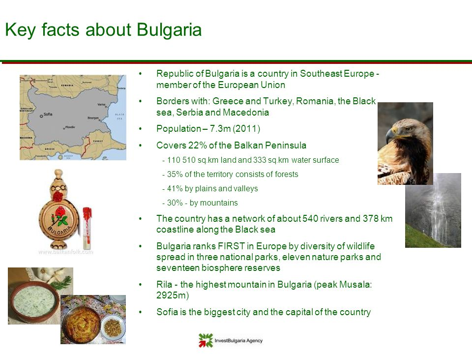 Key facts about Bulgaria