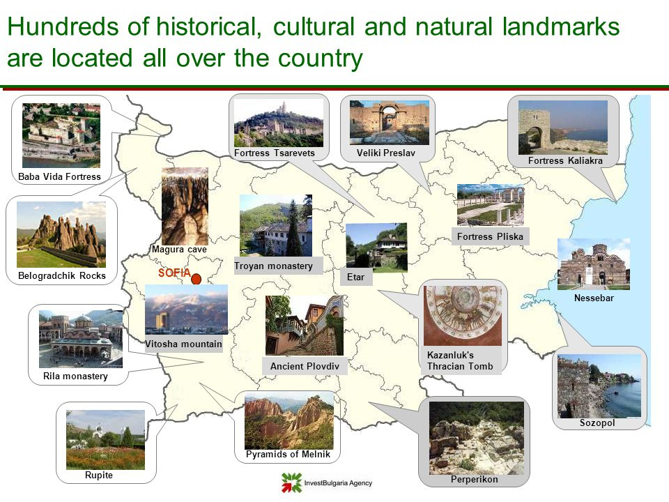 Hundreds of historical, cultural and natural landmarks are located all over the country
