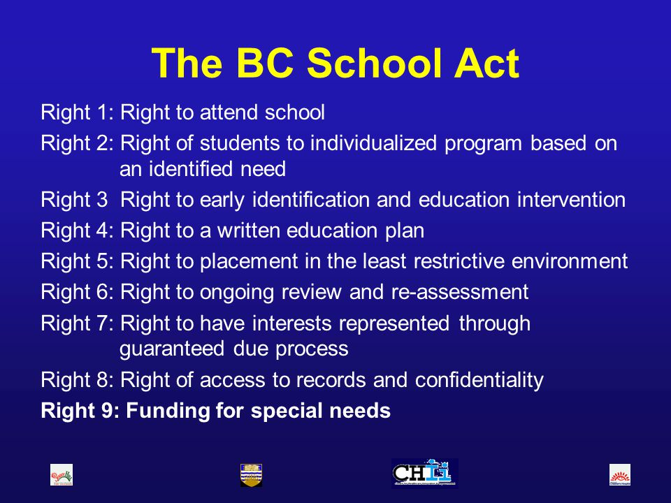 The BC School Act Right 1: Right to attend school
