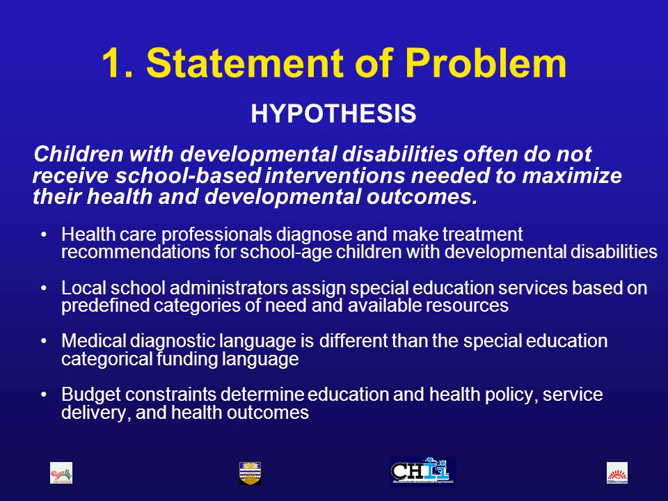 1. Statement of Problem HYPOTHESIS