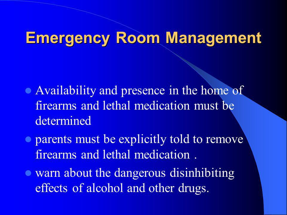 Emergency Room Management