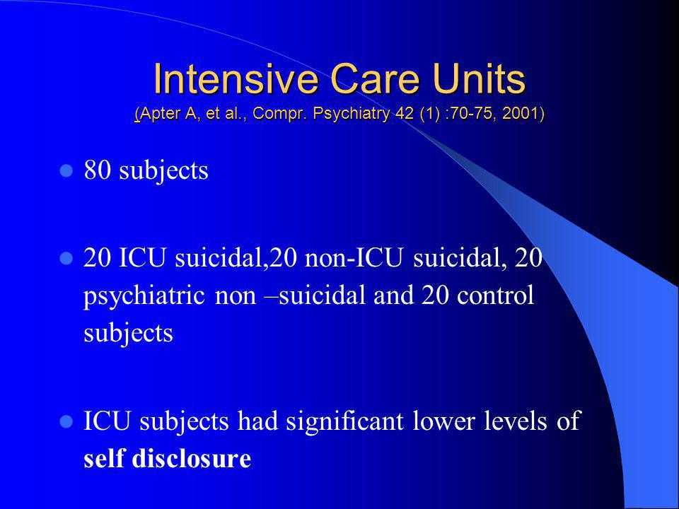 Intensive Care Units (Apter A, et al. , Compr