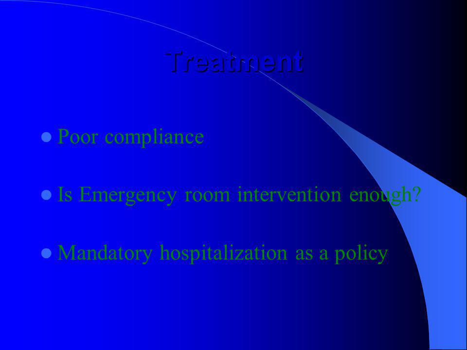 Treatment Poor compliance Is Emergency room intervention enough
