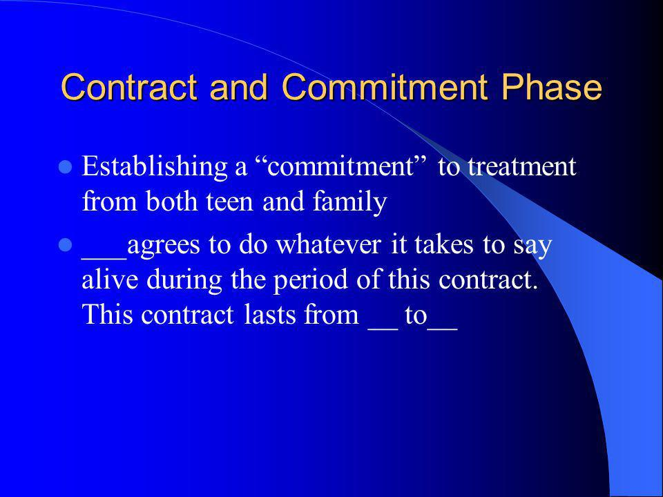 Contract and Commitment Phase