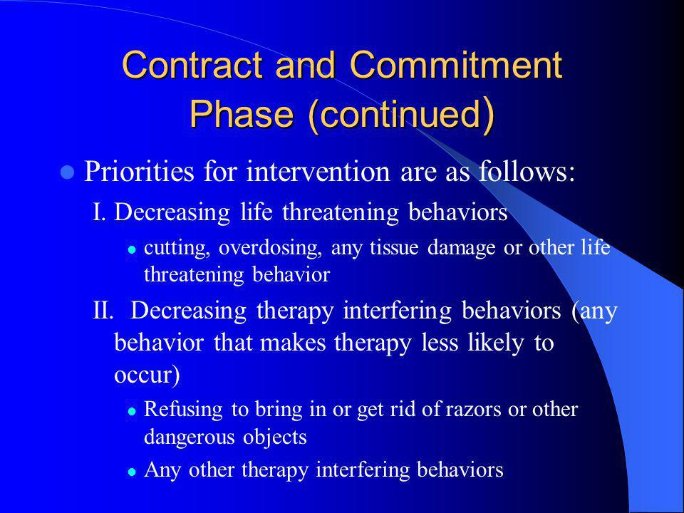 Contract and Commitment Phase (continued)