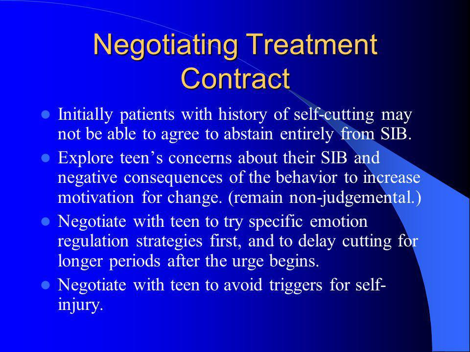 Negotiating Treatment Contract