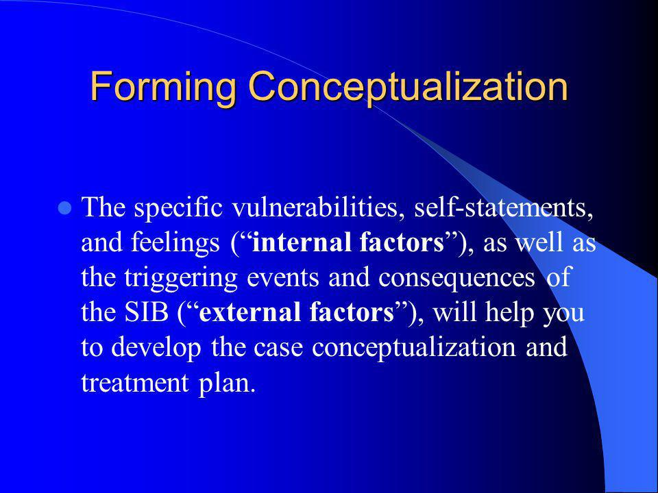 Forming Conceptualization