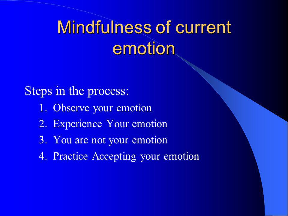 Mindfulness of current emotion