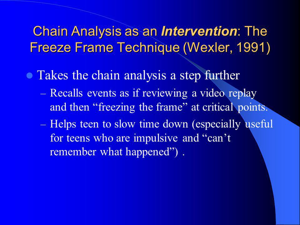 Takes the chain analysis a step further