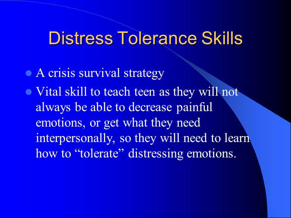 Distress Tolerance Skills