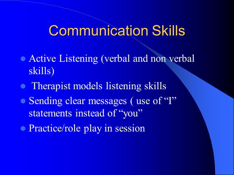 Communication Skills Active Listening (verbal and non verbal skills)