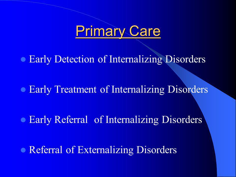 Primary Care Early Detection of Internalizing Disorders