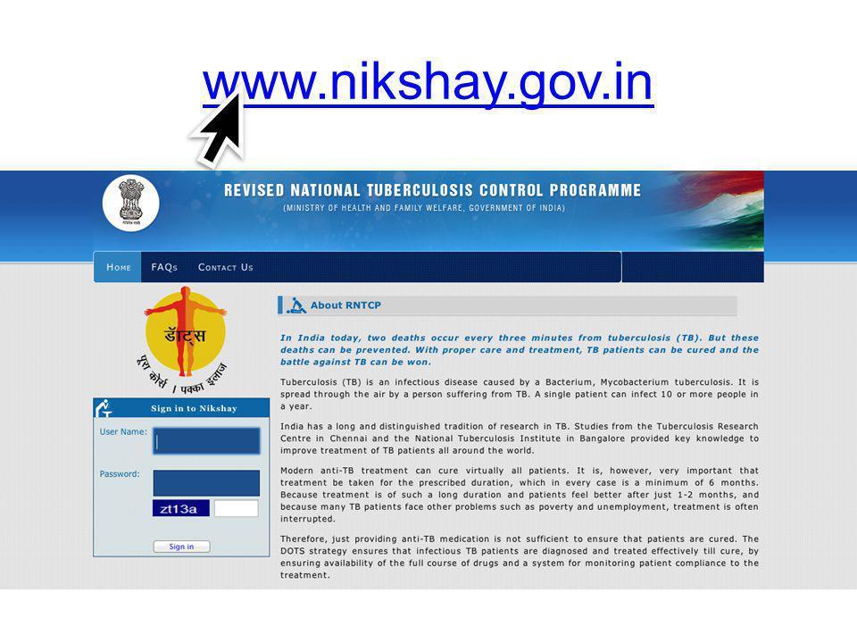 www.nikshay.gov.in