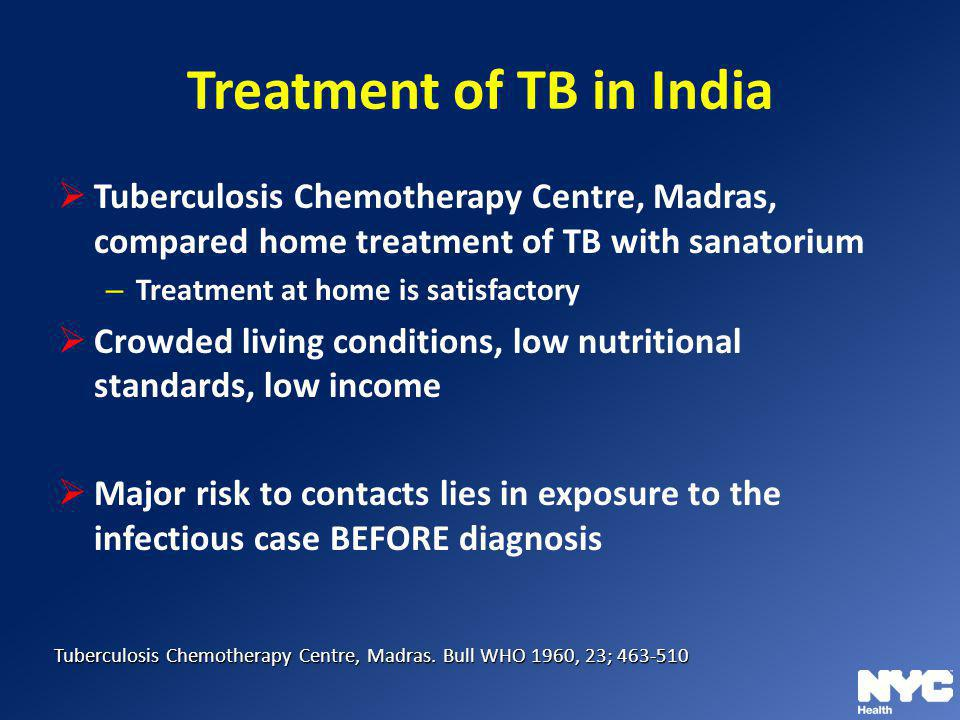 Treatment of TB in India