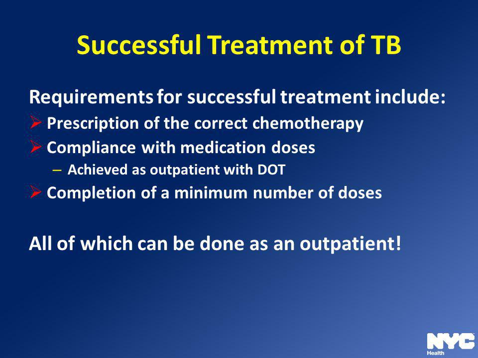 Successful Treatment of TB