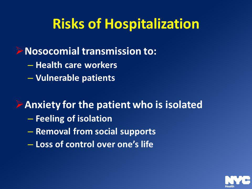 Risks of Hospitalization