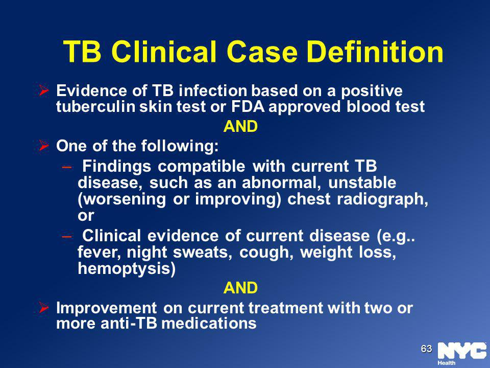 TB Clinical Case Definition